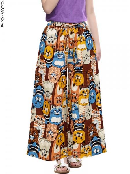 CKA39 Celana Kulot Anak Katun Linen