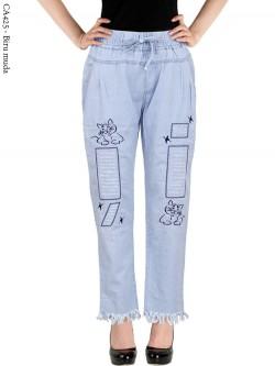 CA425 Celana Jeans Remaja/ABG Dewasa Bordir Rawis