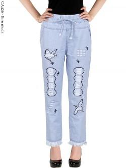 CA426 Celana Jeans Remaja/ABG Dewasa Bordir Rawis
