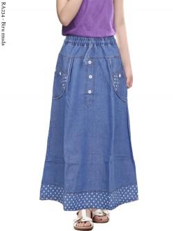 RA234 Rok Jeans Anak Tanggung 7-12th