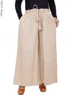 CK357 Celana Kulot Jumbo Katun Linen (Rami)