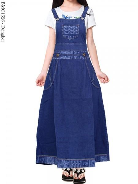 BMC1626 Overall Jeans Anak Tanggung