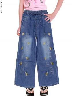 CKA49 Celana Kulot Jeans Anak Bordir Banana