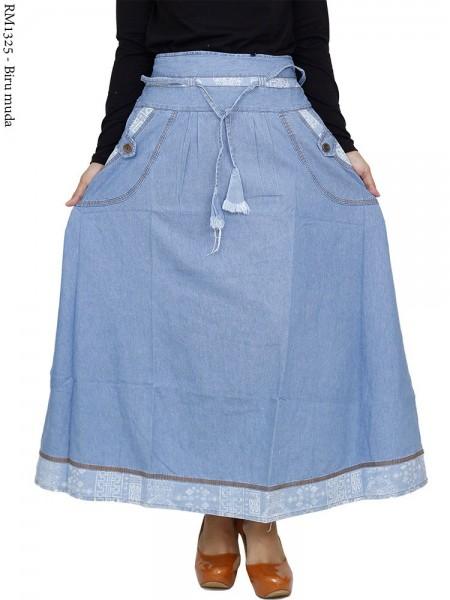 RM1325 Rok Jeans Remaja/Dewasa Payung List Songket