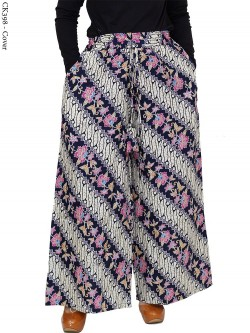CK398 Celana Kulot Jumbo Katun Batik