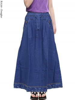 RA250 Rok Jeans Anak List Bunga 6-12th