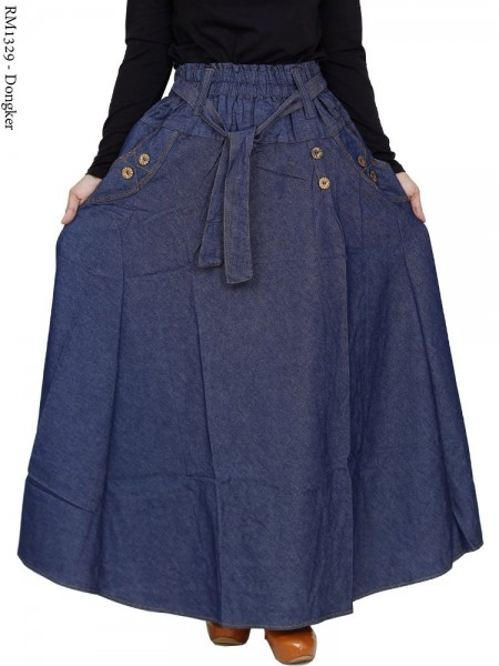 RM1329 Rok Jeans Jumbo Payung Kancing