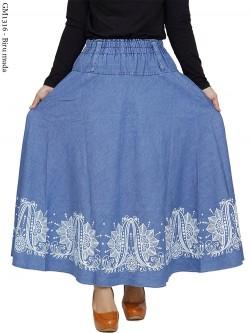 RM1316 Rok Klok Jeans Motif Cantik