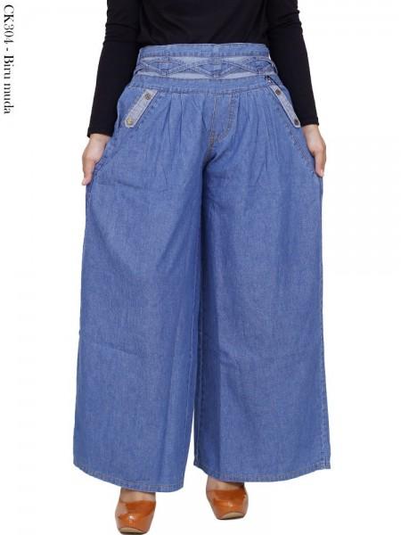 CK304 Celana Kulot Jeans Polos