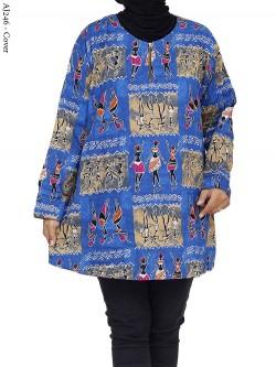 AJ246 Atasan Jumbo Katun Batik Etnik