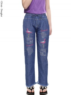 CJA49 Celana Jeans Anak Bordir Rawis