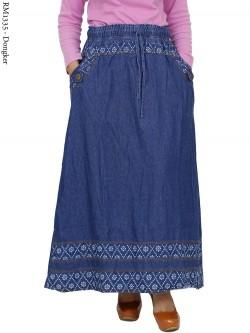 RM1335 Rok Jeans Remaja/Dewasa List Motif
