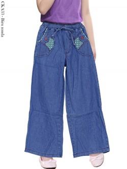 CKA33 Celana Kulot Jeans Anak Tanggung