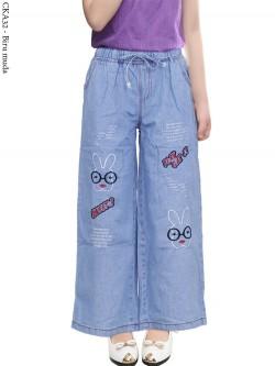 CKA32 Celana Kulot Jeans Anak Bordir