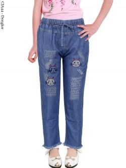 CJA44 Celana Jeans Anak Bordir Rawis