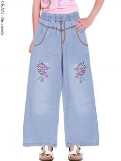 CKA31 Celana Kulot Jeans Anak Bordir