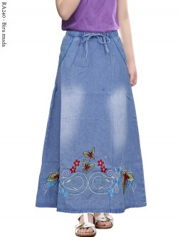 RA240 Rok Jeans Anak Tanggung Bordir 6-10th