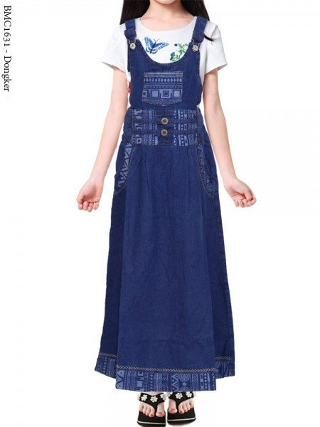 BMC1631 Overall Jeans Anak 5-10th