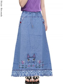 RA259 Rok Jeans Anak Tanggung Bordir 6-110th