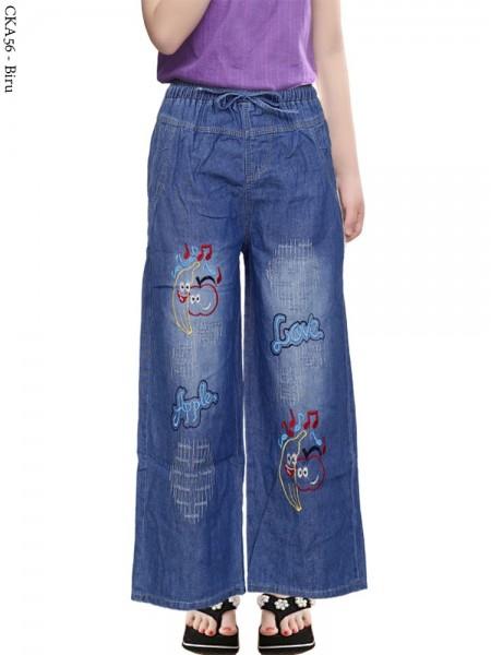CKA56 Celana Kulot Jeans Anak Bordir Banana