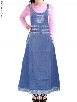 BMC1627 Overall Jeans Anak Tanggung