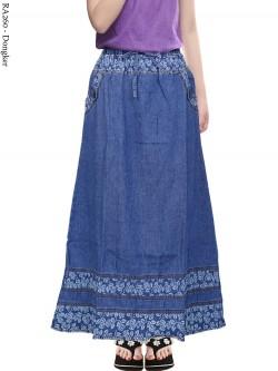 RA260 Rok Jeans Anak Tanggung List Motif 6-12th