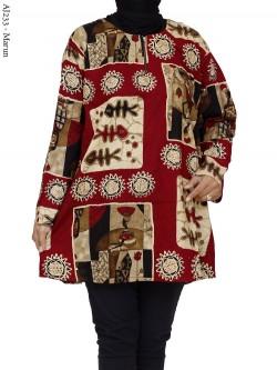 AJ233 Blus Super Jumbo Batik