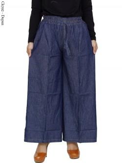 CK392 Celana Kulot Jumbo Jeans Polos