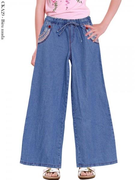 CKA29 Celana Kulot Jeans Anak Tanggung