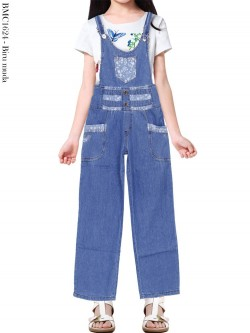 BMC1624 Overall Jeans Anak Kulot List Motif