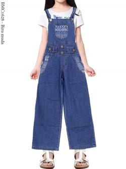 BMC1628 Overall Jeans Anak Kulot List Motif