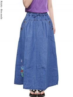 RA263 Rok Jeans Anak Tanggung Bordir 6-10th
