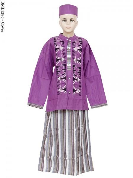 BML12891 (7-12) Baju Koko Anak Celana Sarung