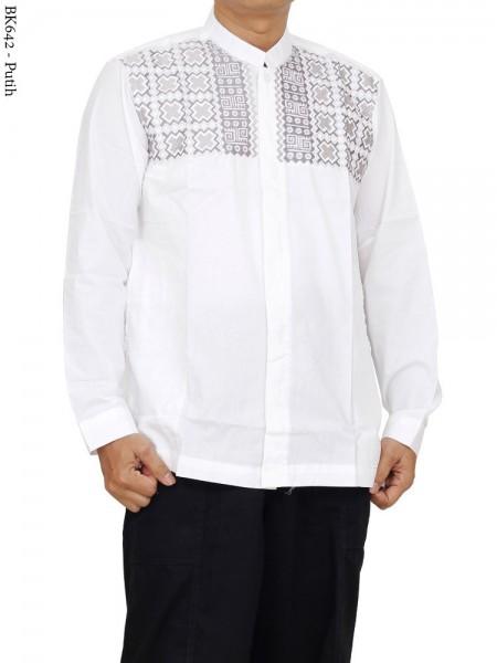 BK642 Baju Koko Bordir Albatar Panjang