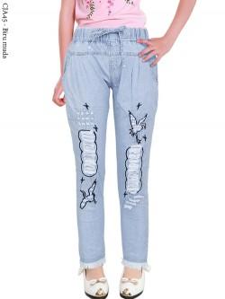 CJA45 Celana Jeans Anak Bordir Rawis