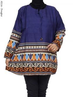 AJ239 Blus Katun Super Jumbo Batik