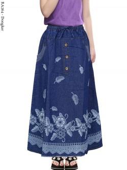 RA264 Rok Jeans Anak Tanggung Motif 6-10th