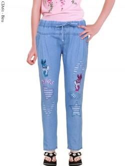 CJA61 Celana Jeans Anak Bordir Bunny