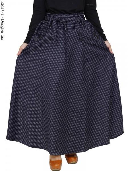 RM1341 Rok Payung Katun woll Motif Salur