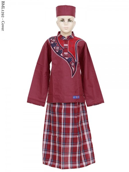 BML1292 (7-12) Baju Koko Anak Celana Sarung