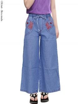 CKA40 Celana Kulot Jeans Anak Tanggung