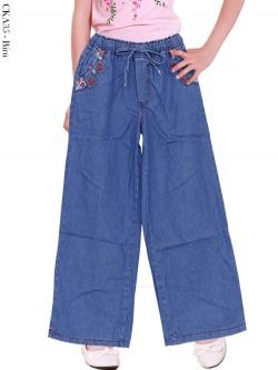 CKA35 Celana Kulot Jeans Anak Tanggung 6-10th