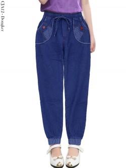 CJA12 Celana Jogger Jeans Anak List Salur