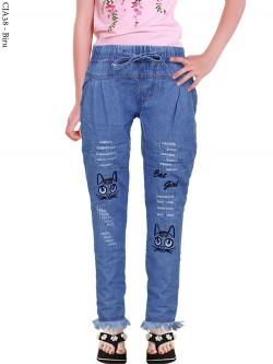 CJA38 Celana Jeans Anak Bordir Rawis