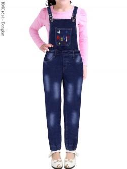 BMC1658 Overall Jeans Anak joger bordir