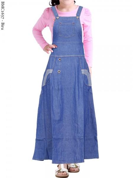 BMC1657 Overall Jeans Anak Tanggung
