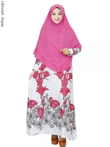 GKS1638 Gamis Syar'i Misby Hijab Syiria Pinguin
