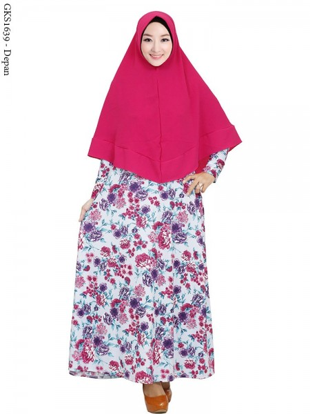 GKS1639 Gamis Syar'i Pet Misby