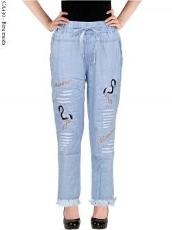 CA430 Celana Jeans Remaja/ABG Dewasa Bordir Rawis