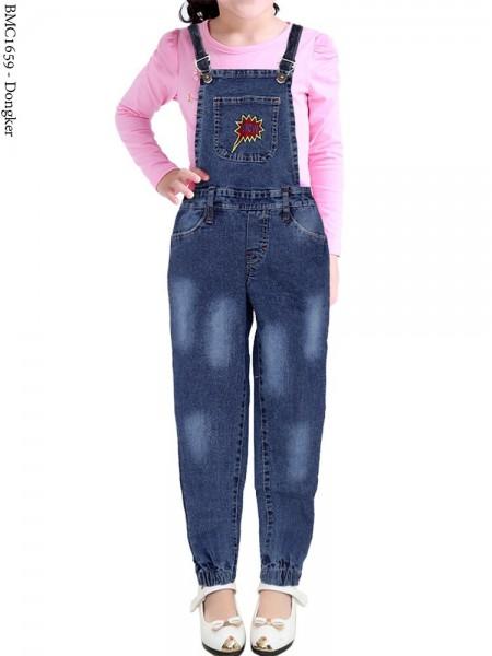 BMC1659 Overall Jeans Anak joger bordir